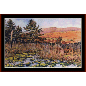 Farmland Marsh - Americana cross stitch pattern by Cross Stitch Collectibles | Crafting | Cross-Stitch | Other