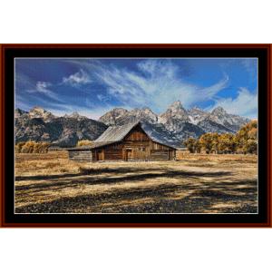 Mormon Barn - Americana cross stitch pattern by Cross Stitch Collectibles | Crafting | Cross-Stitch | Other