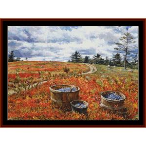 Blueberry Fields - Americana cross stitch pattern by Cross Stitch Collectibles   Crafting   Cross-Stitch   Other