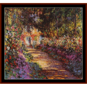 Garden Pathway at Giverny, new edition - Monet cross stitch pattern by Cross Stitch Collectibles | Crafting | Cross-Stitch | Other