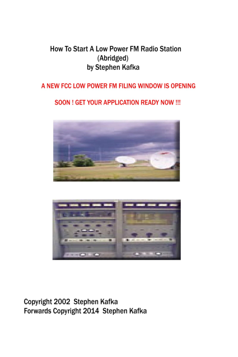First Additional product image for - How To Start A Low Power FM Radio Station (Abridged) by Stephen Kafka