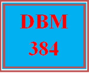 DBM 384 All Discussions | eBooks | Education