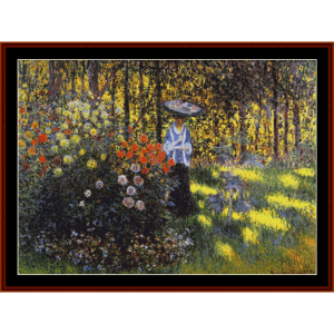 Woman with Parasol in Garden, new edition  - Monet cross stitch pattern by Cross Stitch Collectibles | Crafting | Cross-Stitch | Other