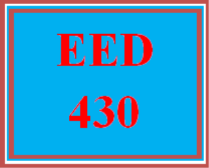 EED 430 Wk 4 Discussion | eBooks | Education