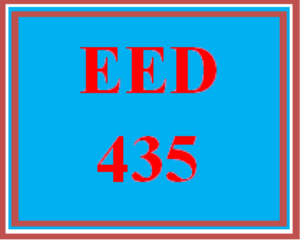 EED 435 Wk 5 Discussion - Assessing Student Learning and Achievement | eBooks | Education