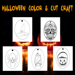 halloween craft color and cutout