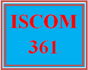 ISCOM 361 All Discussions   eBooks   Education