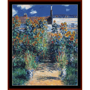 Garden at Vetheuil, new edition - Monet cross stitch pattern by Cross Stitch Collectibles | Crafting | Cross-Stitch | Other