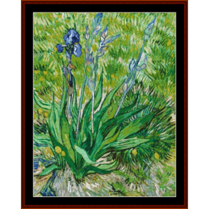 Iris, 1890, new edition – Van Gogh cross stitch pattern by Cross Stitch Collectibles | Crafting | Cross-Stitch | Other