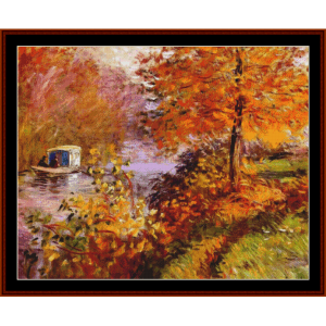 Studio Boat, 1896 new edition – Monet cross stitch pattern by Cross Stitch Collectibles | Crafting | Cross-Stitch | Other