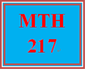 MTH 217 All Discussions | eBooks | Education