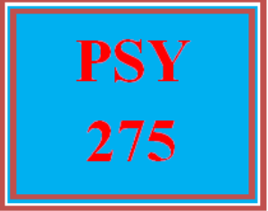 PSY 275 All Discussions | eBooks | Education