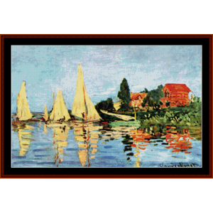 Regatta at Argenteuil new edition – Monet cross stitch pattern by Cross Stitch Collectibles | Crafting | Cross-Stitch | Other