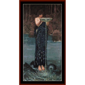circe indiviosa, 3rd edition – waterhouse cross stitch pattern by cross stitch collectibles