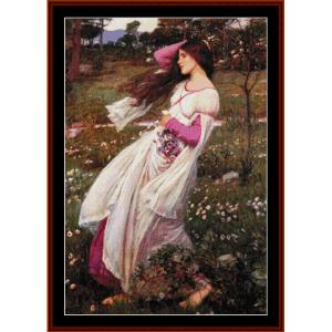 Windflowers, 2nd edition – Waterhouse cross stitch pattern by Cross Stitch Collectibles | Crafting | Cross-Stitch | Other