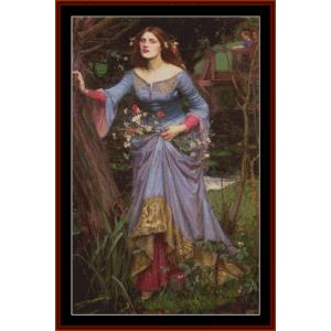 Ophelia, 1910 2nd edition – Waterhouse cross stitch pattern by Cross Stitch Collectibles | Crafting | Cross-Stitch | Other