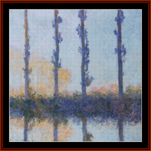 Four Poplar Trees, 2nd edtion – Monet cross stitch pattern by Cross Stitch Collectibles | Crafting | Cross-Stitch | Other