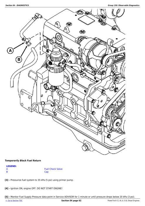 First Additional product image for - Download John Deere PowerTech 4024 2.4L & 5030 3.0L Diesel Engines Technical Service Repair Manual (CTM101019)