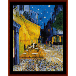 cafe terrace cross stitch pattern by cross stitch collectibles