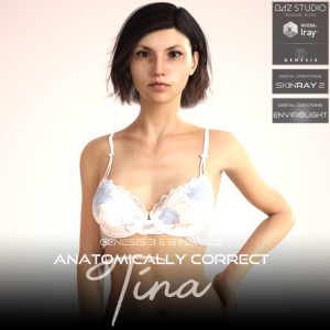 Anatomically Correct: Tina for Genesis 3 and Genesis 8 Female | Software | Design