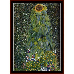 The Sunflower - Klimt cross stitch pattern by Cross Stitch Collectibles | Crafting | Cross-Stitch | Other
