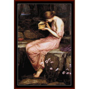 Psyche Opening the Golden Box, 2nd edition - Waterhouse cross stitch pattern by Cross Stitch Collectibles | Crafting | Cross-Stitch | Other