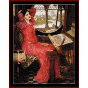 half sick of shadows, 2nd edition - waterhouse cross stitch pattern by cross stitch collectibles