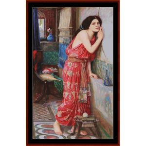 Thisbe, 3rd edition - Waterhouse cross stitch pattern by Cross Stitch Collectibles | Crafting | Cross-Stitch | Other