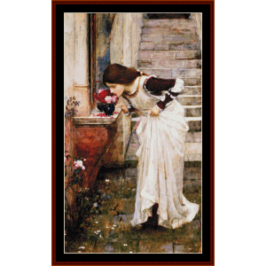At the Shrine, 3rd edition - Waterhouse cross stitch pattern by Cross Stitch Collectibles | Crafting | Cross-Stitch | Other