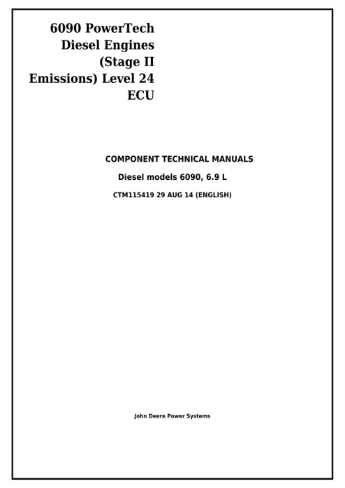 First Additional product image for - PowerTech 6090 Diesel Engines (Stage II Emissions) Level 24 ECU Technical Service Manual CTM115419