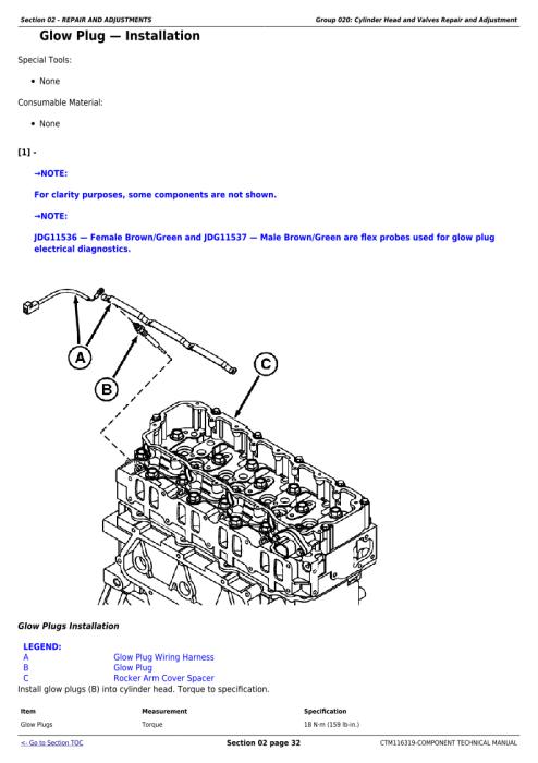 Second Additional product image for - Download John Deere Yanmar 4TNV94CHT Diesel Engine (Interim Tier 4/Stage IIIB) Service Repair Technical Manual CTM116319