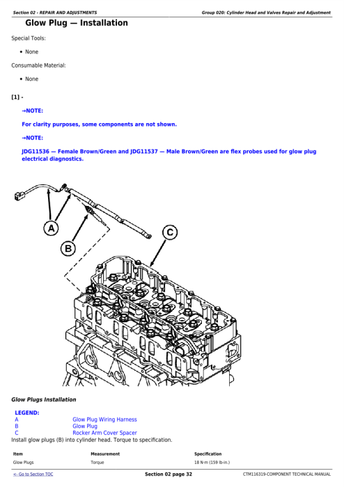 Second Additional product image for - Download John Deere Yanmar 4TNV94CHT Diesel Engine (Interim Tier 4/Stage IIIB) Service Repair Technical Manual CTM116319