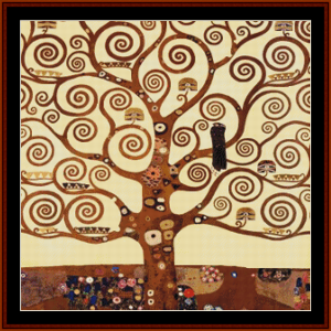tree of life, 2nd edition - klimt cross stitch pattern by cross stitch collectibles