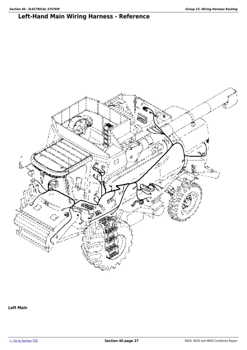 Second Additional product image for - Download John Deere 9450, 9550 and 9650 Combines (SN. before 695100) Technical Service Repair Manual (TM1801)