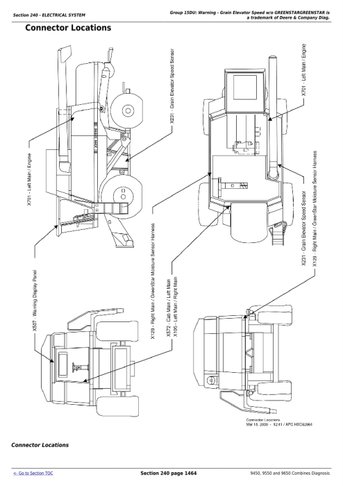Second Additional product image for - John Deere 9450, 9550 and 9650 Combines (SN: - 695100) Diagnosis and Tests Service Manual (tm1802)