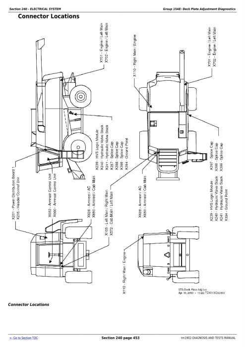 Second Additional product image for - Download John Deere 9650 STS (SN.-695500) , 9750 STS (SN.-695600) Combines Diagnostic Service Manual (tm1902)