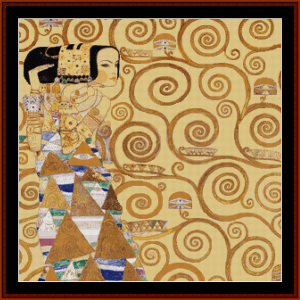 expectation, 2nd edition – gustav klimt cross stitch pattern by cross stitch collectibles