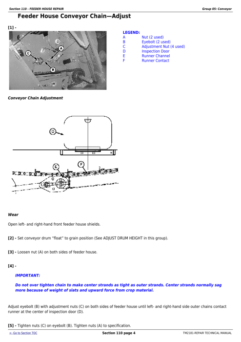 Second Additional product image for - Download John Deere 9560 STS, 9660 STS, 9760 STS, 9860 STS Combines Service Repair Technical Manual (TM2181)