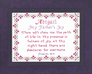 Name Blessings - Abigail 8 | Crafting | Cross-Stitch | Other