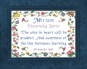 Name Blessings - Miriam | Crafting | Cross-Stitch | Other