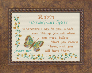 Name Blessings - Robin 3 | Crafting | Cross-Stitch | Other