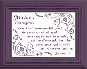name blessings - maddox 3