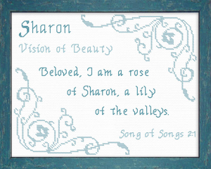 name blessings - sharon 3