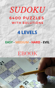sudoku ebook - 6400 puzzles with solutions