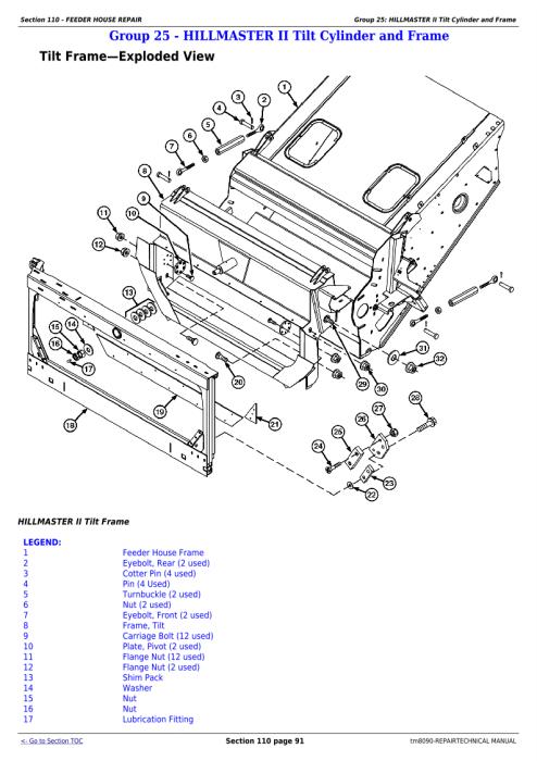 Third Additional product image for - Download John Deere 9660, 9540i, 9560i, 9580i, 9640i, 9660i, 9680i WTS, 9780i CTS Combines Service Repair Manual TM8090