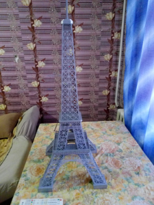 eiffel tower cutting template