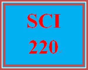 SCI 220T Entire Course | eBooks | Education