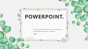[powerpoint template] fresh style