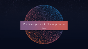 [powerpoint template] starry style