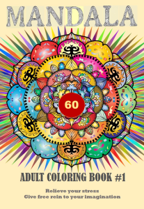 mandala adult coloring ebook - 60 designs